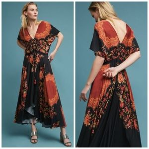 NWT Anthropologie Farm Rio Marlow Floral Dress M